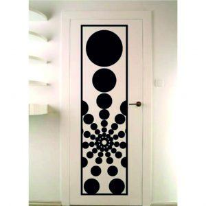 porta decorazione geometrica